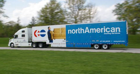 Photograph of a moving truck with the northAmerican logo on the side.