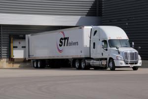 A photograph of an STI truck