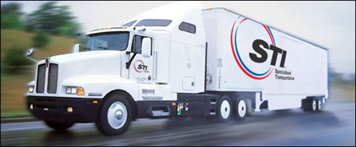 A photograph of an STI moving truck