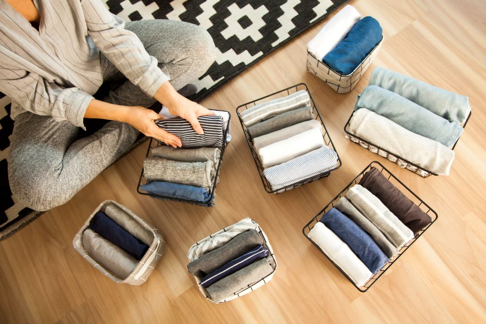 woman using tips from Marie Kondo