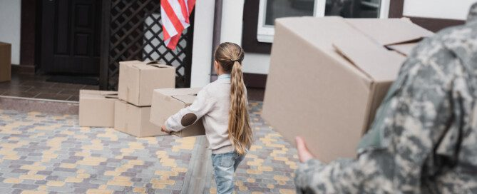 military families moving into new home